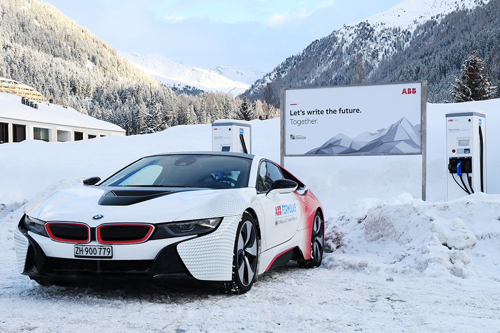 ABB EV charging stations in Davos, Switzerland